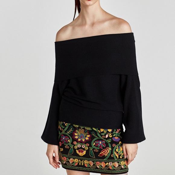 e63b2791 Zara Sweaters   Ribbed Bandeau Sweater   Poshmark